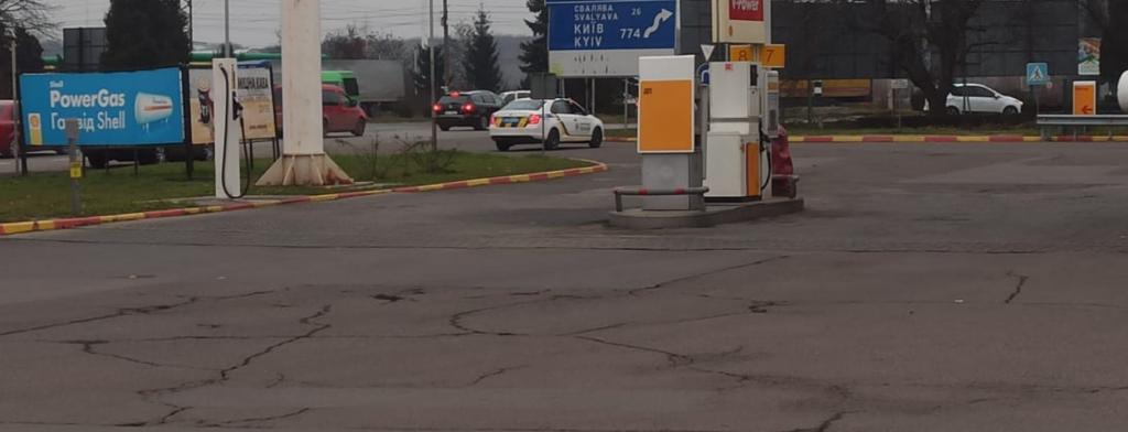 Правоохоронцям Мукачева надійшло повідомлення про замінування заправки