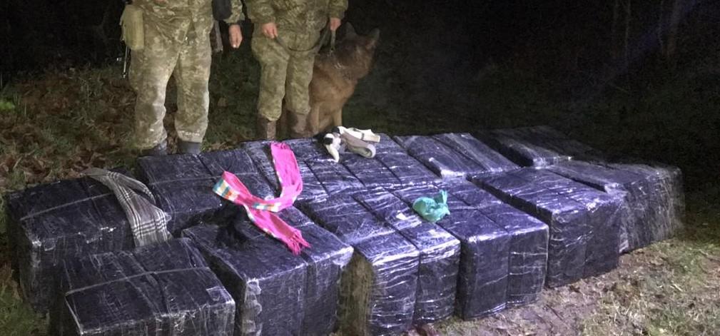 На березі Тиси після втечі контрабандистів закарпатські прикордонники знайшли 12 пакунків сигарет