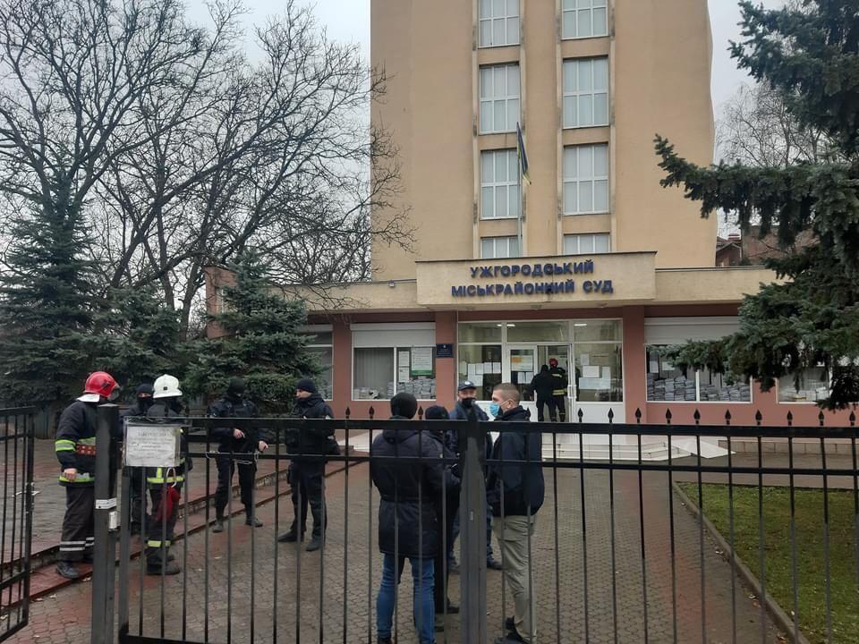 В Ужгороді правоохоронцям надійшло повідомлення про замінування місьрайонного суду