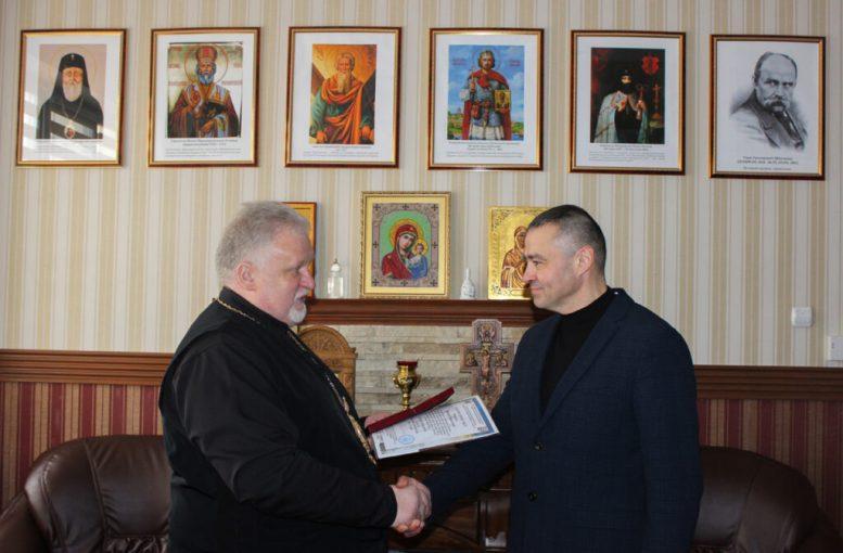 Єпископ Мукачівський і Карпатський Віктор Бедь нагородив Павла Федаку орденом Августина Волошина