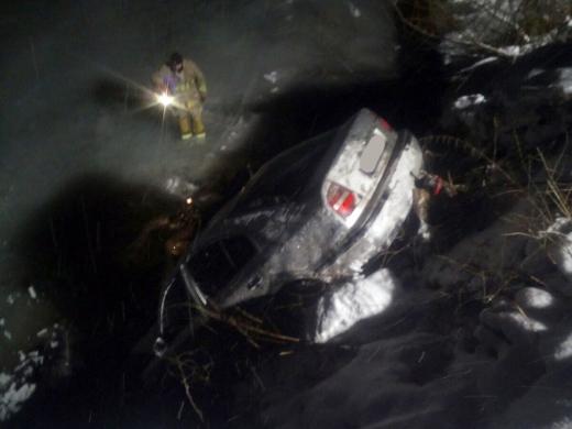 На Міжгірщині автомобіль перекинувся у річку