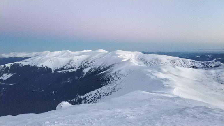 На Закарпатті температура в горах мінус 14°С