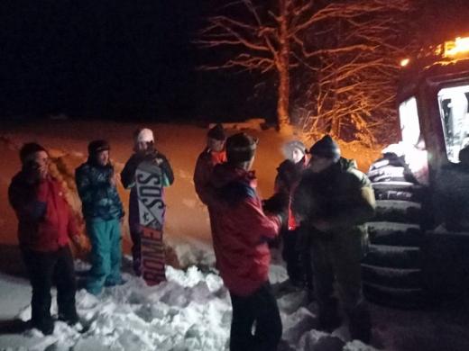 На Рахівщині у горах заблукало п'ятеро туристів