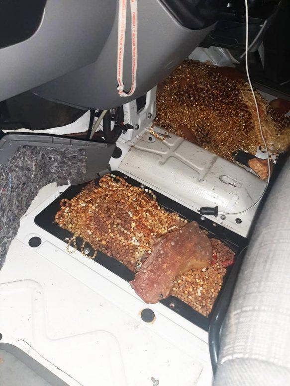 Майже 14 кг контрабандного бурштину вилучили на Закарпатті (відео)