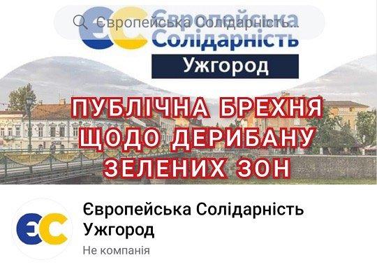 "Ужгородська ""Європейська Солідарність"" попала в гучний земельно-дерибанний скандал"