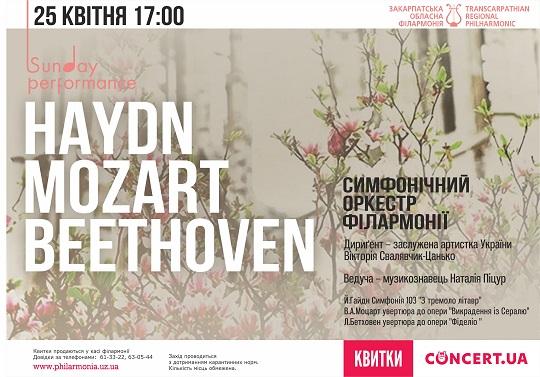 У виконанні симфонічного оркестру Закарпатської обласної філармонії лунатиме музика віденських класиків
