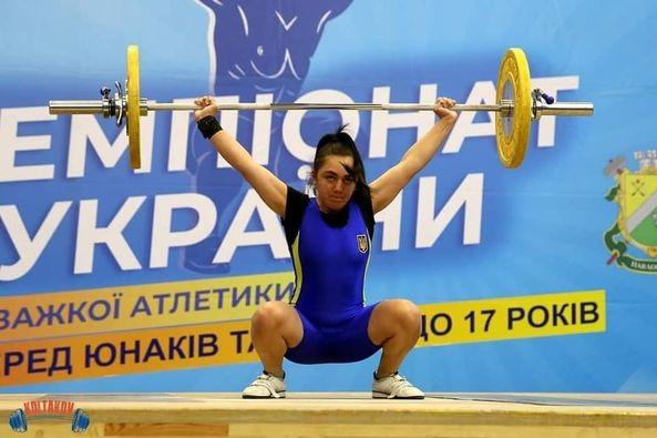 Спортсменка із Закарпаття виборола дві медалі на Всеукраїнських змаганнях з важкої атлетики