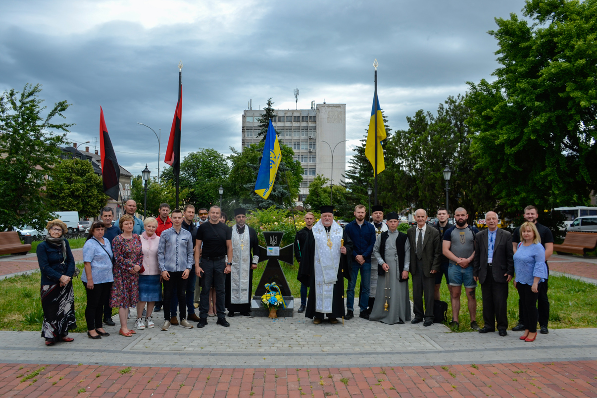 Представники української громадськості Закарпаття та духовенства ПЦУ вшанували 130-річчя від дня народження Євгена Коновальця