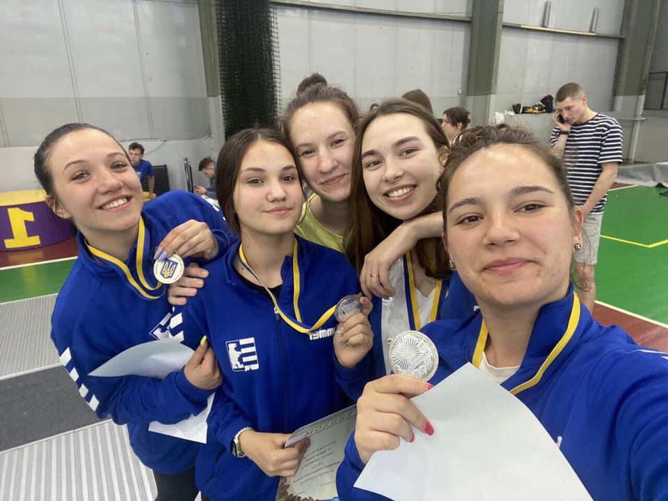 Закарпатські спортсменки стали срібними призерками Чемпіонату України з фехтування на шпагах
