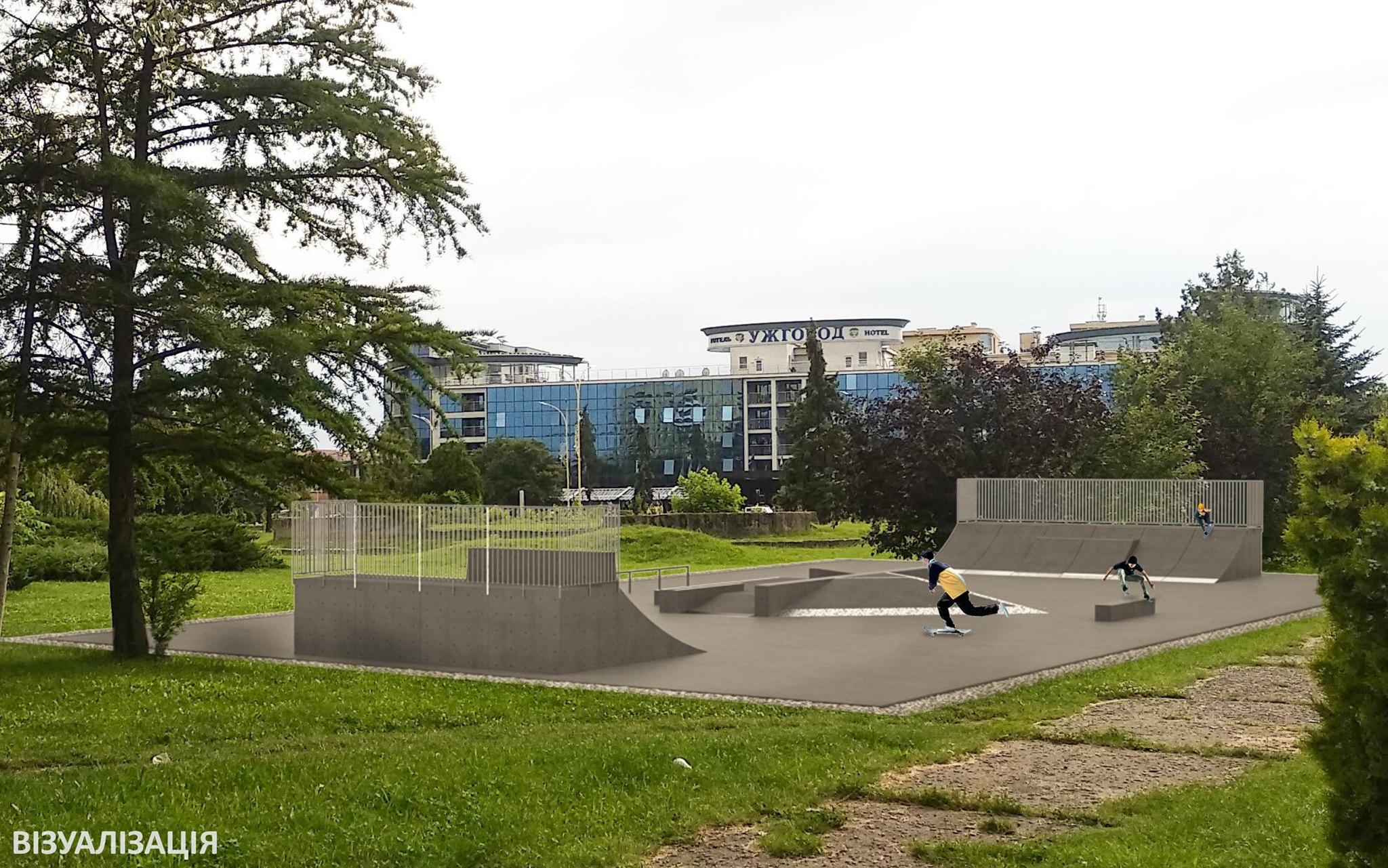В Ужгороді почалося спорудження майданчику для катання на скейтбордах та роликах