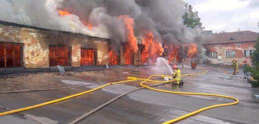 12 пожежних машин гасили палаючі склади на вулиці Гагаріна в Ужгороді