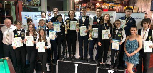 На Чемпіонаті України з більярдного спорту серед юніорів закарпатці посіли призові місця