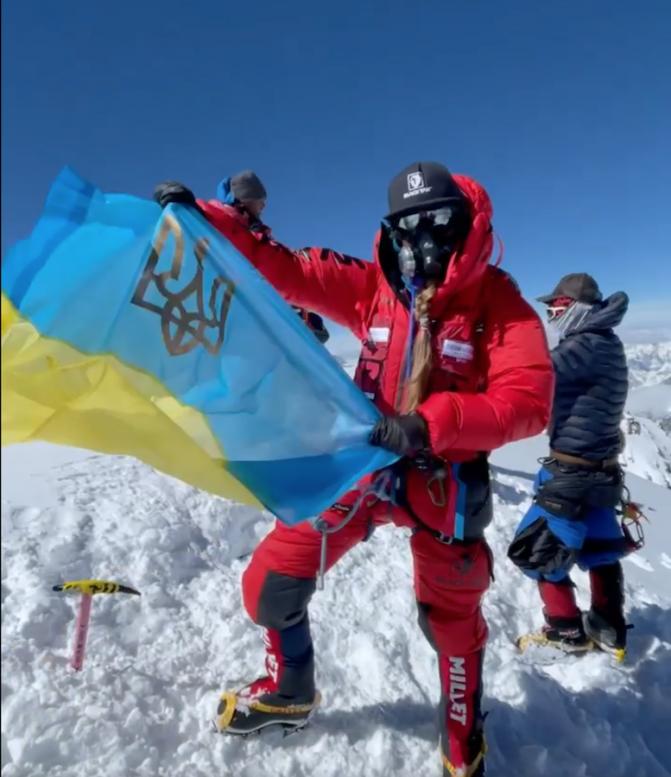 Закарпатка Ірина Галай опублікувала відео з гори К2, яку альпіністи називають «горою вбивцею»