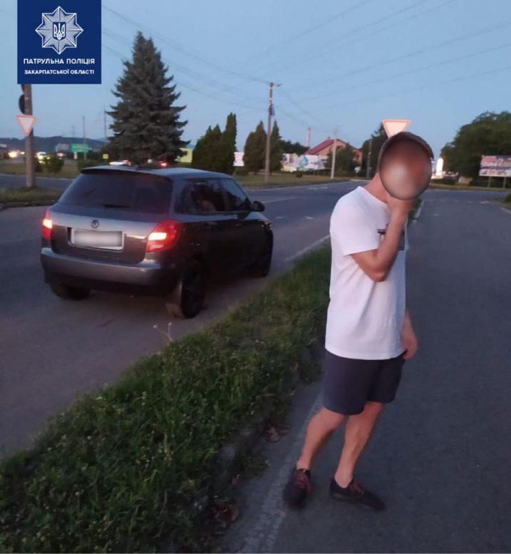 Закарпатські патрульні оштрафували водія у стані наркосп'яніння на 54 тисячі гривень