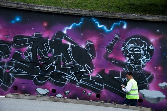 """Перший фестиваль графіті """"Квасний джем"""" відбувся у Квасах на Рахівщині"""